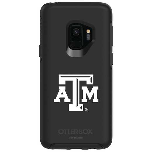 GAL-S9-BK-SYM-TAM-D101: FB Texas A&M OB SYMMETRY Case for Galaxy S9